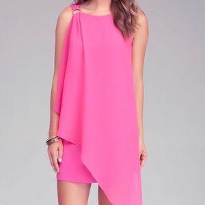 bebe Dresses - bebe | Pink Shoulder Drape Sleeveless Dress